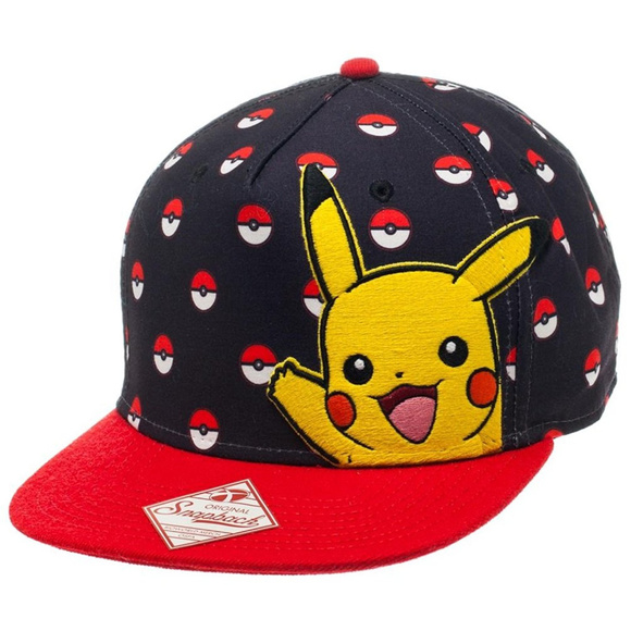 ee022c99124 Bioworld Pokemon Pikachu and Poke Ball Hat NWT